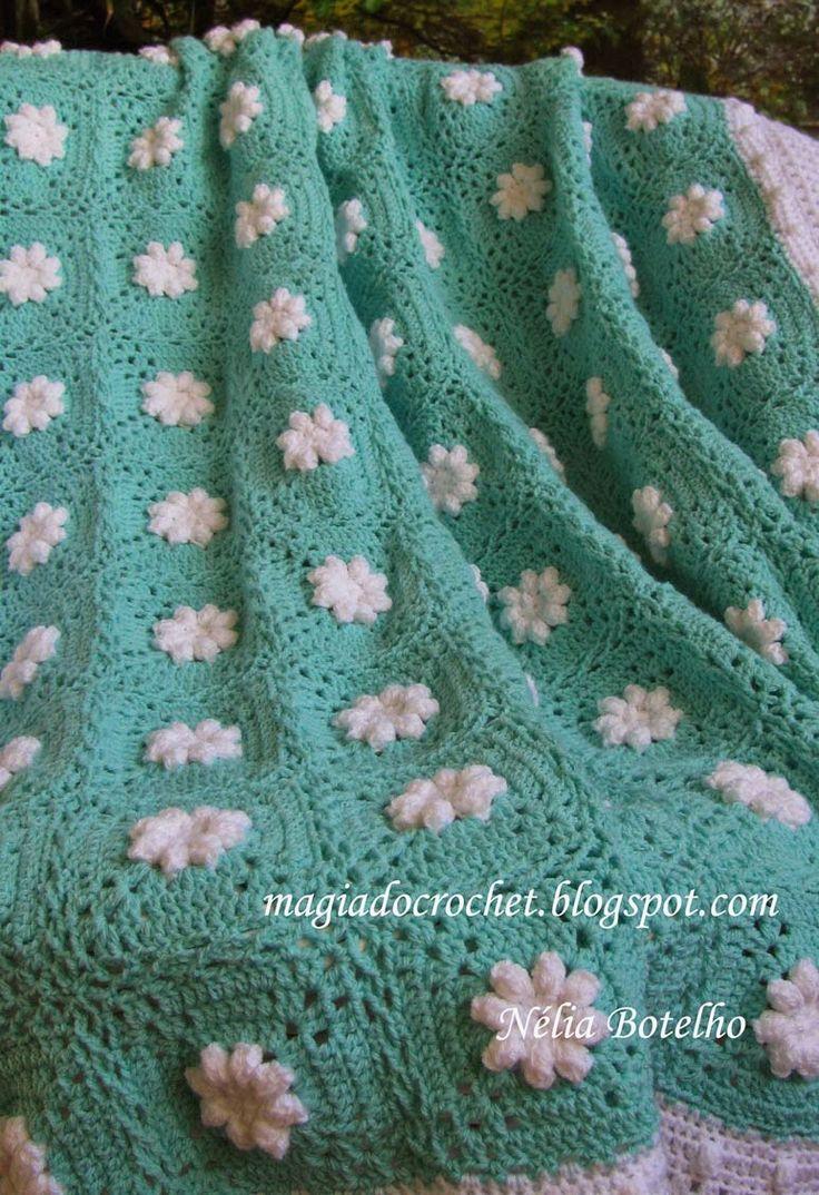Magia do Crochet: Colcha em crochet para bebé e variações da colcha malmequer