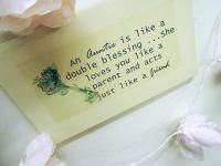 AUNTIE KEY gift plaque ;  Perfect lovely little something for any gift occasion  Size 260 mm x 160 mm aprox. All or plaques are gift wrapped as part of a free service to our customers; Taking the hassle out of shopping, and putting the love back into gifts buying. Disclaimer: As all our products are lovingly hand finished there may be slight variations between designs.  £7.99 shop now at www.katiedolittle.com