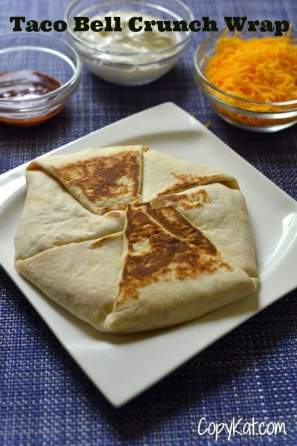 Make your own Taco Bell Crunchwrap at home with this recipe from CopyKat.com