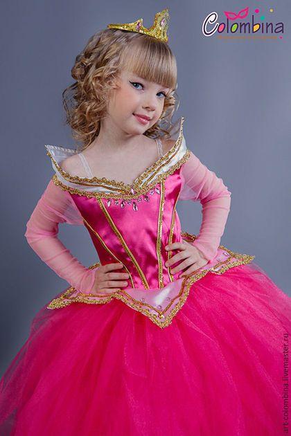 Купить или заказать костюм принцессы Авроры в интернет-магазине на Ярмарке Мастеров. Карнавальный костюм для девочки принцесса Аврора комплектация: платье, корона 134-146 +300…