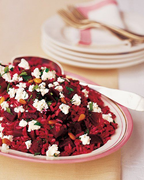 Beet and Brown Rice Salad with Goat Cheese Recipe