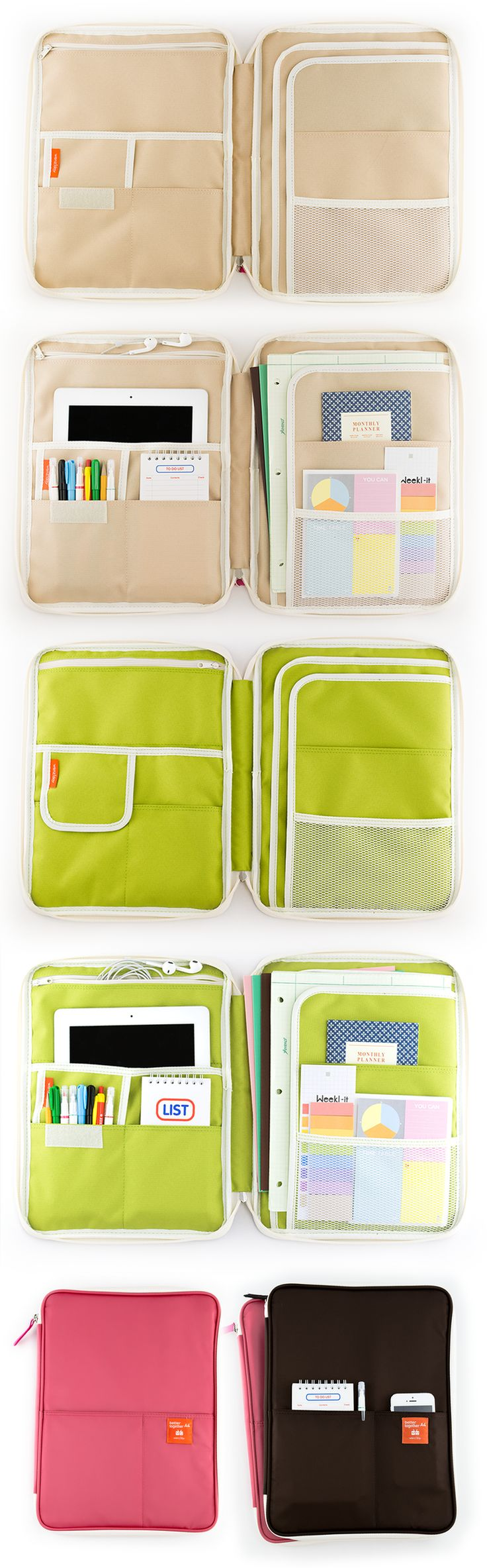 Love organization? This is the pouch for you! The Better Together Note Pouch v2 has 10+ pockets for everything you can imagine. Pockets with zippers, velcro, and mesh will keep all your belongings safe & secure. This amazing multifunctional pouch will hold anything including your pens, folders, A4 & letter sized papers, iPad, planner supplies, phone, sticky notes, and even a 13 inch Macbook Pro! Up your organization game with this super pouch and life will never be the same again! Check it…