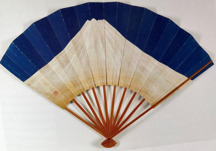 Mt. Fuji. Fan obverse. Suzuki Kiitsu. Japanese. Nineteenth century. Feinberg collection.