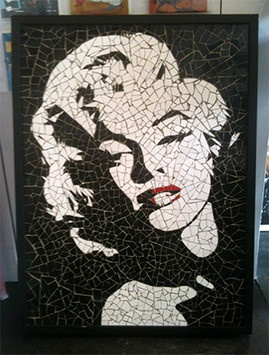 Marilyn Monroe Mosaic by JJ Adams - Art Rebellion - Art Gallery & Cafe Lounge www.artrebellion.co.uk