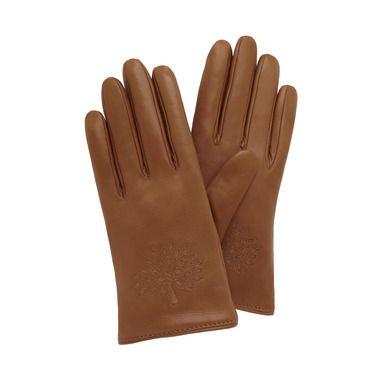 Mulberry - Tree Glove in Oak Nappa & Suede Mix