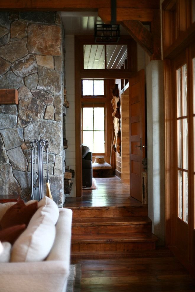 Stupefying San Juan Islands Decorating Ideas For Exquisite Living Room Rustic Design Ideas With Cabin Concr Painting Wood Furniture White Wood Trim Stone Cabin