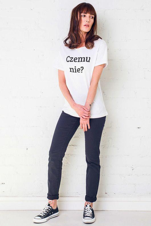bluzki - t-shirty - damskie-CZEMU NIE Oversize t-shirt