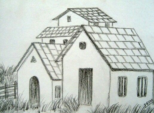 Very Easy House Drawing