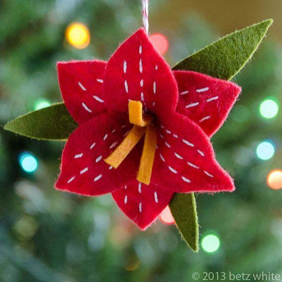 Christmas Amaryllis Ornament PDF PATTERN