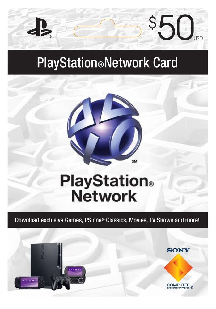 $50 Playstation Network Card for PSN PSP PS3 *NEW* #Sony