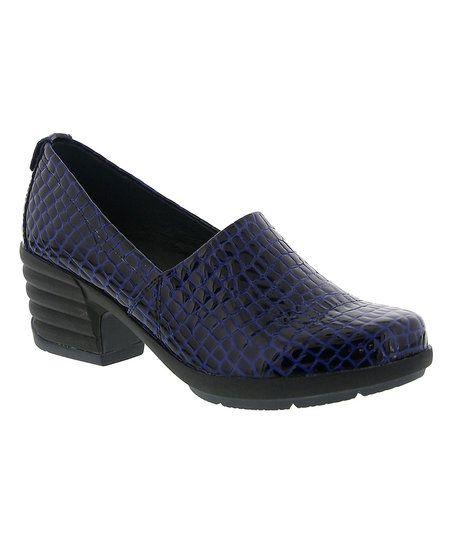 Sanita Blue Croc-Embossed President Patent Leather Pump | zulily