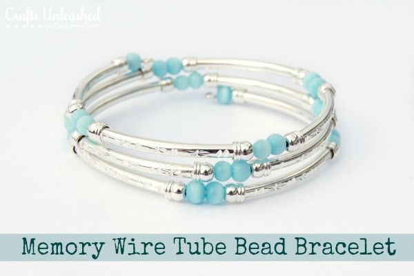 Memory Wire Tube Bead DIY Bracelet