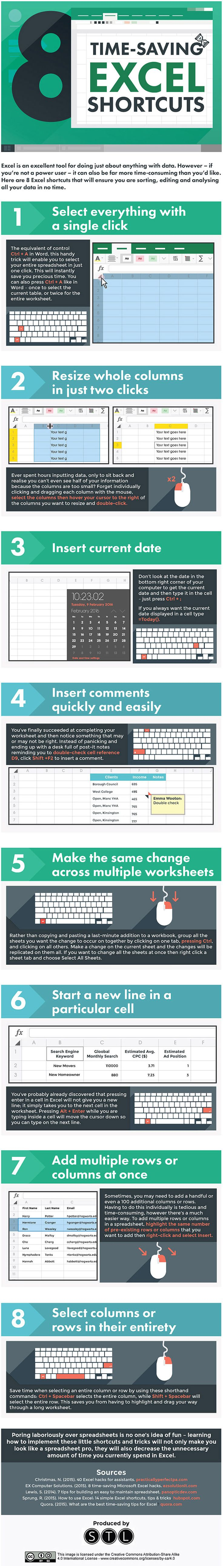 Excel has always been associated with office work and spreadsheets (and less associated with the oh-so-cool production of artwork) which are long, mundane, repetitive tasks that we try to, but can never seem to be able to, avoid doing. That's why time-saving tricks and shortcuts are great hacks