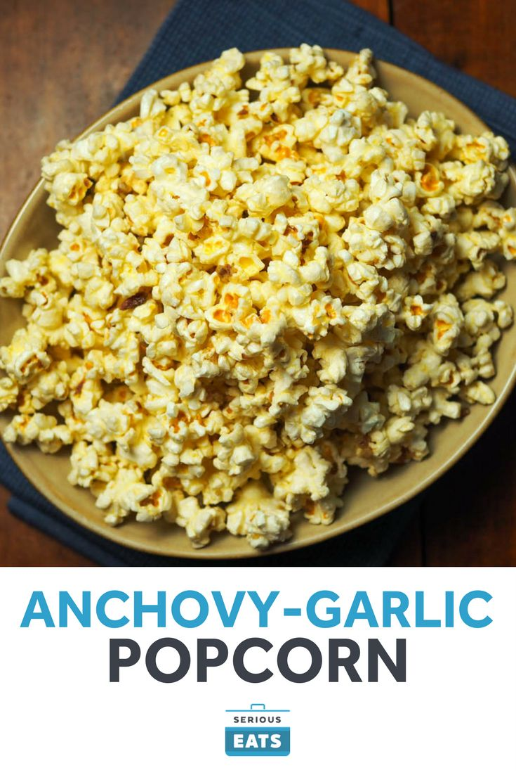 As tempting as it is to eat that popcorn straight from the bag, there's so much more you can do with it. In this recipe we toss cooked popcorn with garlic- and anchovy-infused melted butter in a nod to the Italian dip bagna cauda. If you're into bold flavors, this is the popcorn for you.
