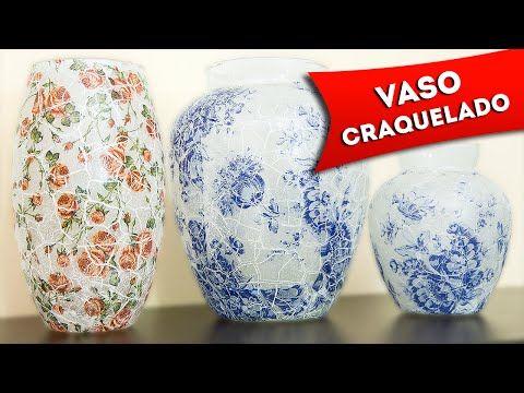 DIY: Vasinho Craquelado - Como Fazer Decoupage com Guardanapos e Craquelado no Vidro Passo a Passo - YouTube
