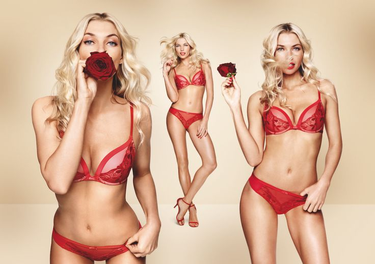 Seductive red and dreamy delicate lace; the perfect combination. Photographed: Sexy Angel Spotlight Wired push up bra