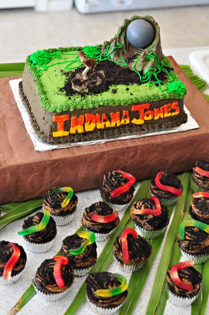 Christensen Fam: Indiana Jones Party--The Food and Cake