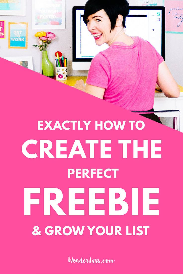 How to Create the Perfect Freebie to Grow Your Email List! Learn how to attract the RIGHT people to your business and grow your email list with engaged subscribers. Resources for bloggers and online entrepreneurs who want to stand out and grow their online business. — Wonderlass