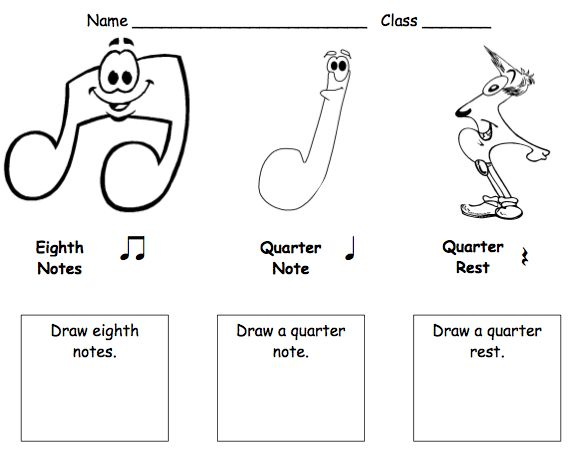 Worksheets Music Worksheets For Elementary 71 best images about elem music worksheetsassessments on beths notes writing rhythms also a rhythm coloring page