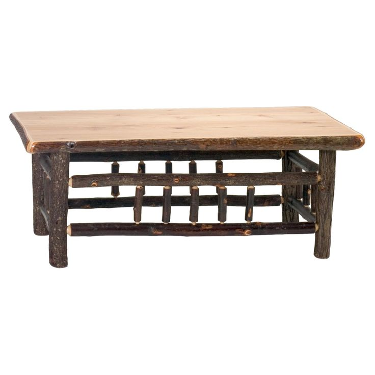 Fireside Lodge Furniture Hickory Open Coffee Table - 84075