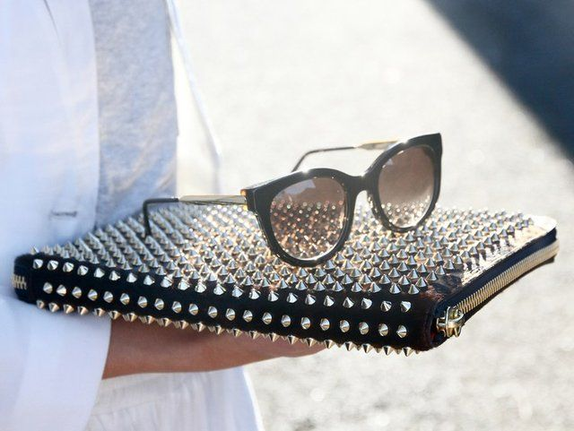 Christian Louboutin Cris Case: Spikes, Cat Eye, Ipad Cases, Clutches, Street Style, Laptops Cases, Christian Louboutin, Accessories, Sunglasses