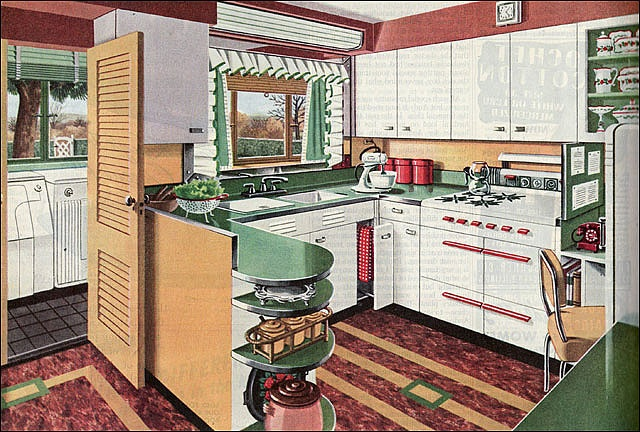 Adorable 1946 American Gas Assn-Kitchen Laundry Combo