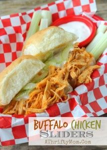 Buffalo Chicken Sliders, Finger Food for parties, Football Party Recipes, Game Day Food ideas for Super Bowl, Chicken Recipe