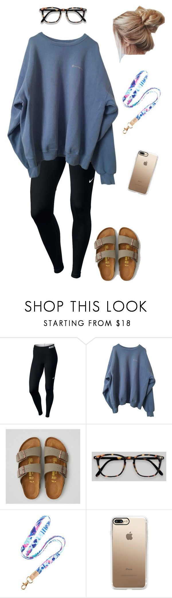 """road trip today!!!!"" by jsteely-1 on Polyvore featuring NIKE, American Eagle Outfitters, Lilly Pulitzer and Casetify #americaneagleoutfitters"