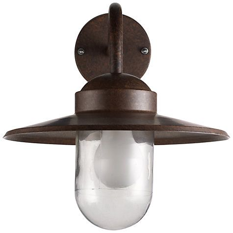 Buy Nordlux Luxembourg Outdoor Wall Light, 'Weathered' Finish Online at johnlewis.com