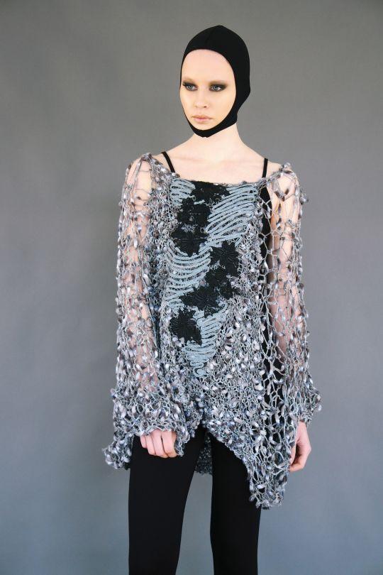 Net sweater with pattern www.maurizio.gr