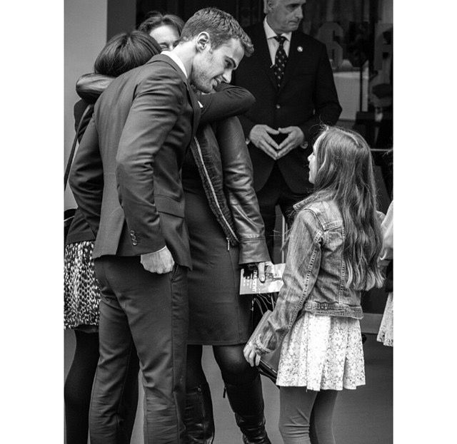 Theo James is so good with kids ❤️  on We Heart It