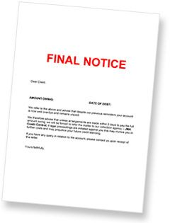 jma have a debt collection letter you can send your debtors as a final chance before