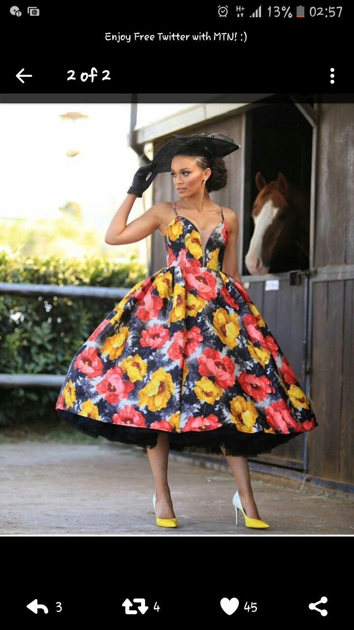 Pearl Thusi Thepolo African Women Summer Dresses Dresses