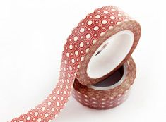 dot washi tape,red washi tape with white dot,15mmX10m. E-mail: sale8@packingtape.cn