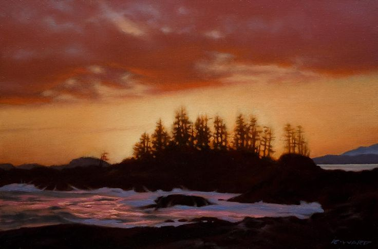 Evening Glow, Frank Island, by Ray Ward