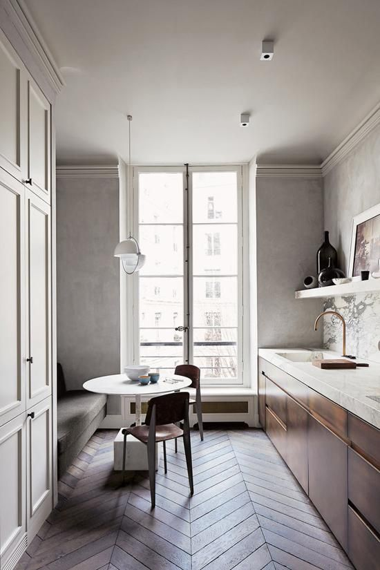 Warm minimalistic Parisian apartment