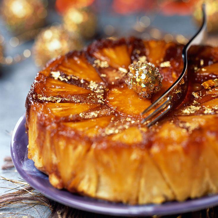 Découvrez la recette Gâteau renversé à l'ananas sur cuisineactuelle.fr.