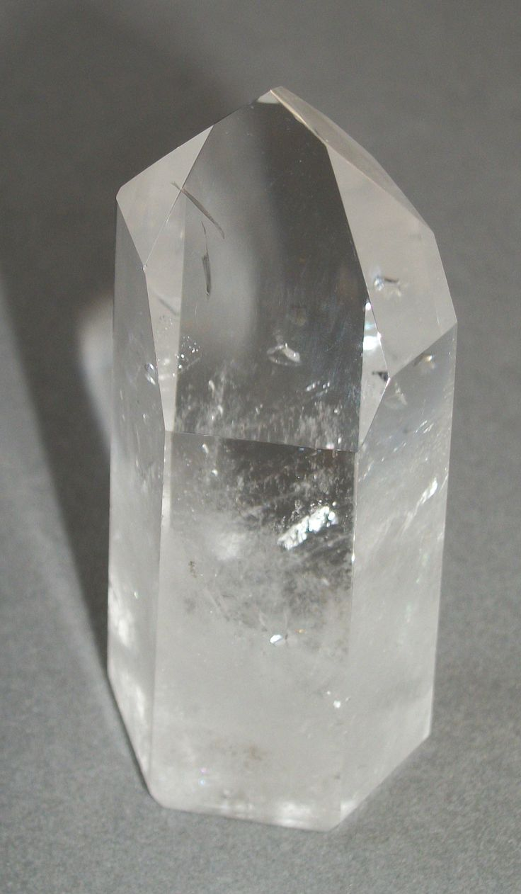 Clear Quartz Crystal With Fairy Frost.  Notice the frost/wisps within the structure. Such crystals help one to connect to the fairy/elemental kingdom.