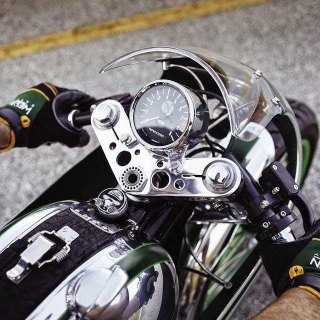 RocketGarage Cafe Racer: FULLER MOTO 1968 NORTON 'MISTY GREEN'