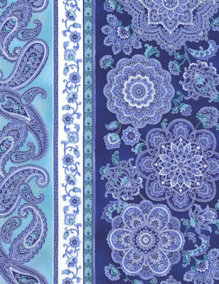 Timeless Treasures - Dutchess Dutchess-CM5232-Blue 11″ Medallion Stripe