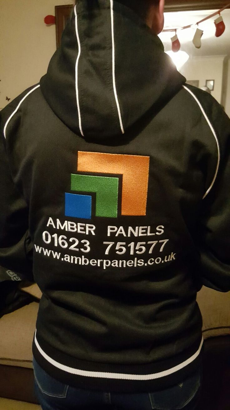 Top quality hoodie with some fine embroidery work by the embroidery department.  This one for #amberpanels  www.amberpanels.co.uk  #lahfabrics #embroidery #embroider #embroided #workwear #work #workout  #hoodie #panel #industrialdesign #industrialembroidery #fashion #clothing #hoody #garment #fabrication #fabric #lasercutting #powdercoating #enclosure