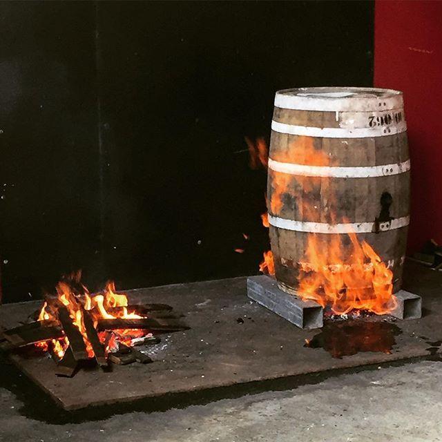 Burning barrel #RhumJM #rhum #rhumagricole #bourbonbarrel #macouba #ig_martinique #martinique #barrel #cask #rumlover #werhumtheworld #distilleriejm #distillery