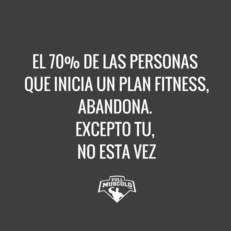 Tu esta vez no vas a abandonar. Mantente en la lucha y verás resultados increibles. #fitness #motivation