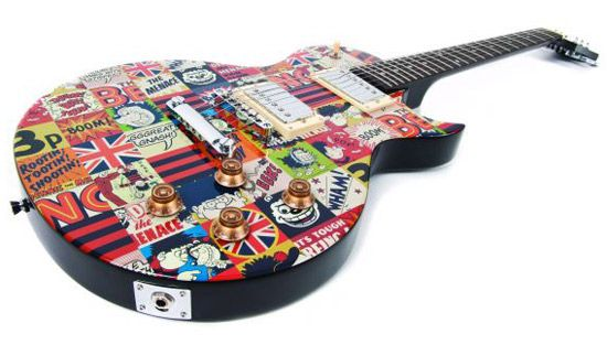 The Beano pop art-style electric guitar for kids