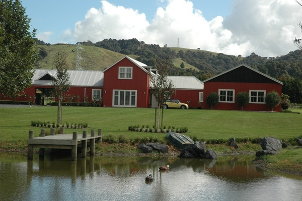 Resene Pioneer Red suits this big red barn!  Also available in COLORSTEEL Pioneer Red.