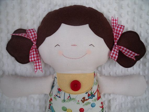 Fun chubby cloth doll made by me using a Sugar Pudin pattern