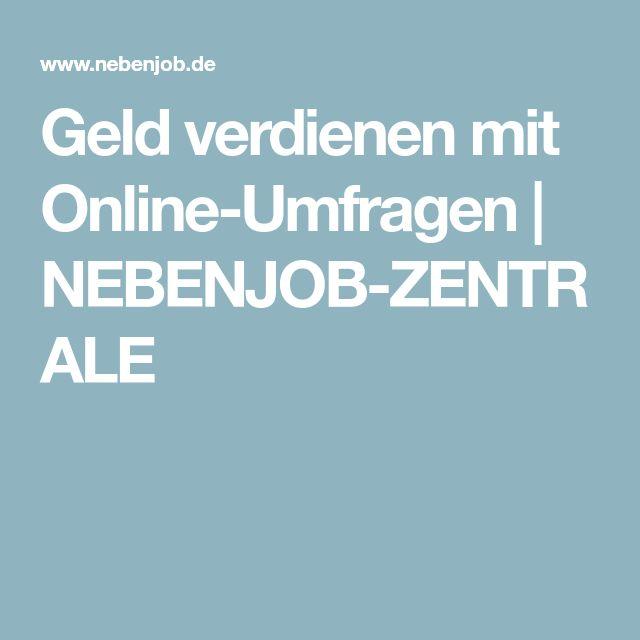 Geld verdienen mit Online-Umfragen | NEBENJOB-ZENTRALE