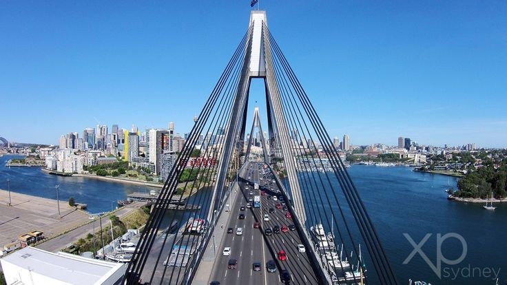 The ANZAC Bridge is the longest span cable-stayed bridge in Australia. See the bridge that connects Pyrmont and Glebe Island from up top.