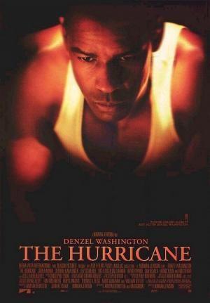 """L'affiche du film """"The Hurricane"""" qui met en scène Denzel Washington dans le rôle de Rubin Carter"""