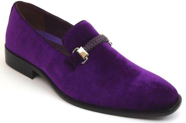 Maximillian Purple Dress Shoes Slip On Dress Shoes Dress Shoes Men